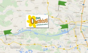Das Obstkistl - drei Mal in der Region. Quelle: maps.google.de
