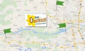 Das Obstkistl - drei Mal in der Region. Quelle: maps.google.de